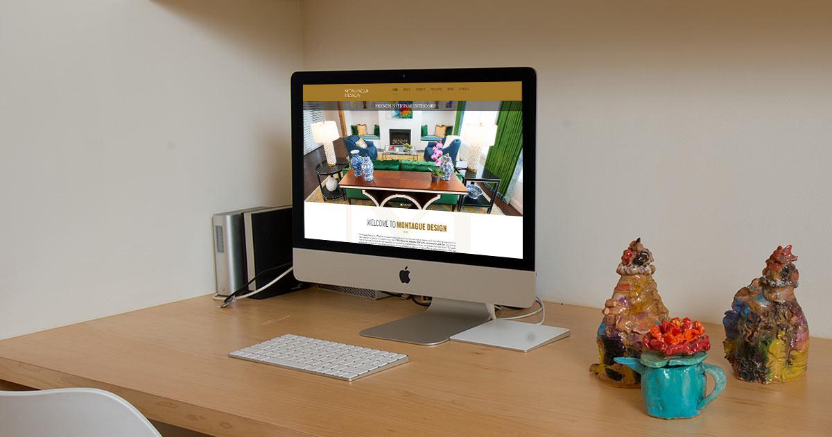 Montague Design Website on iMac Screen